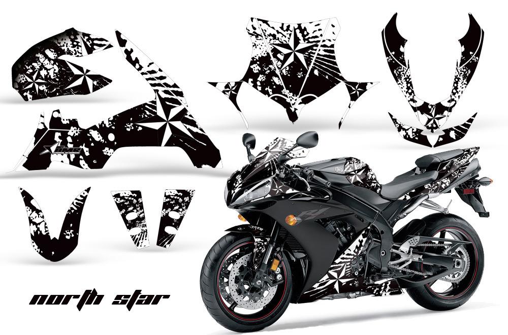 2004-2005 Yamaha R1 Street Bike Graphic decal sticker Kit