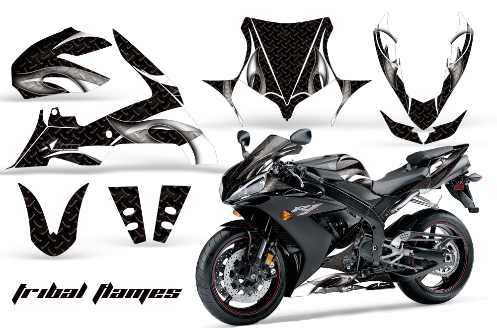 2004-2005 Yamaha R1 Street Bike Graphic decal sticker Kit