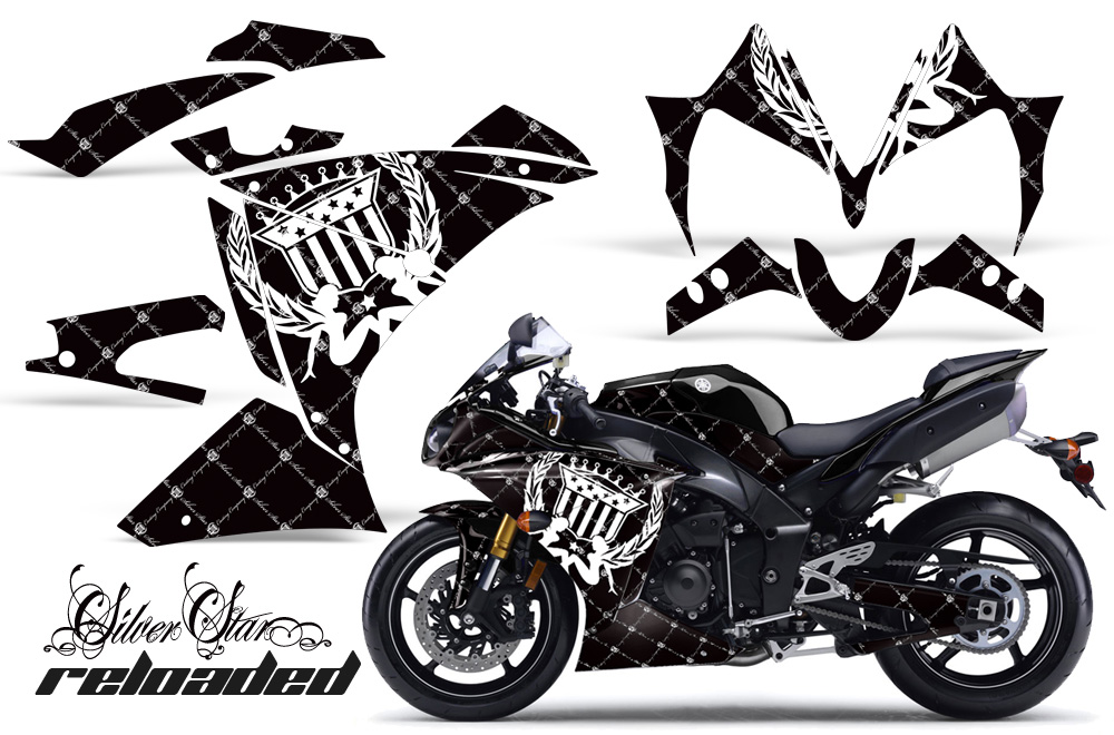 2010-2012 Yamaha R1 Street Bike Graphic decal sticker Kit