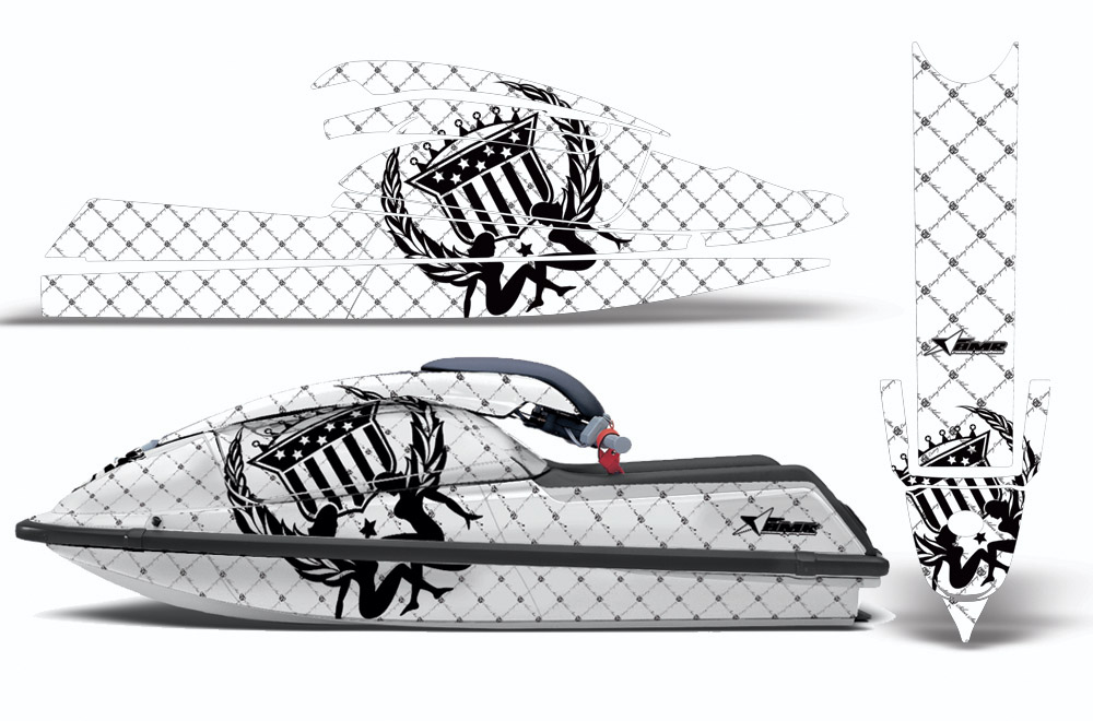 Kawasaki 750SX Jet Ski Graphic wrap decal Kit 1992-1998