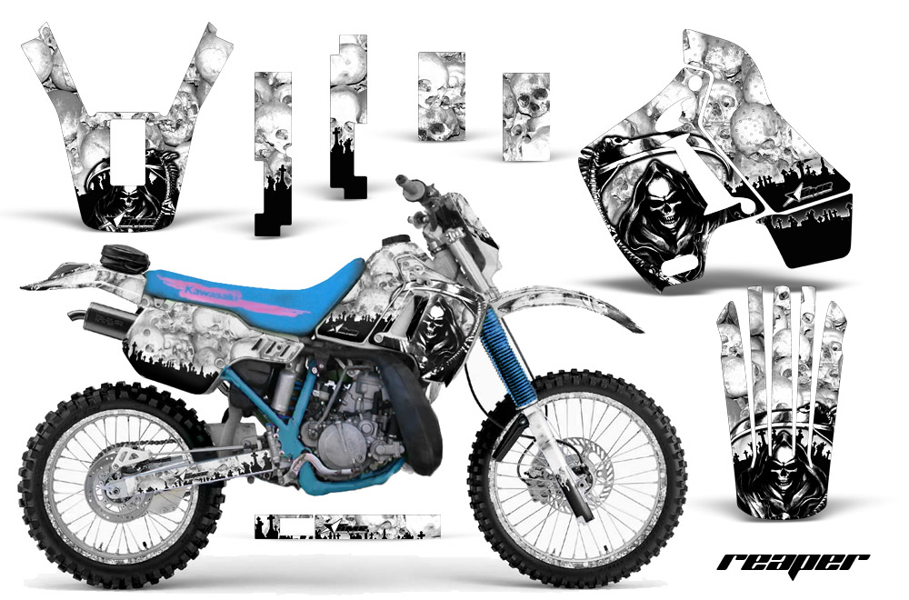 2010-2013 KLX125, D-Tracker Graphics kit. Kawasaki