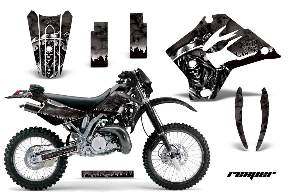 KDX220 1997-2005 Graphics kit. Kawasaki Motocross Graphic