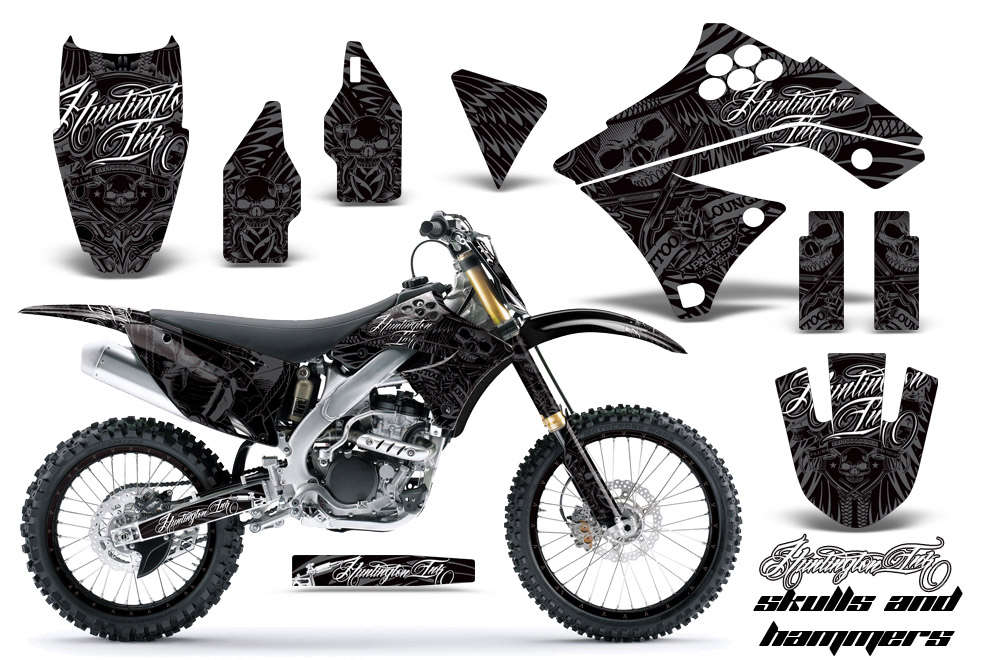 2009-2012 KX250F Graphics kit! Kawasaki Motocross Graphic
