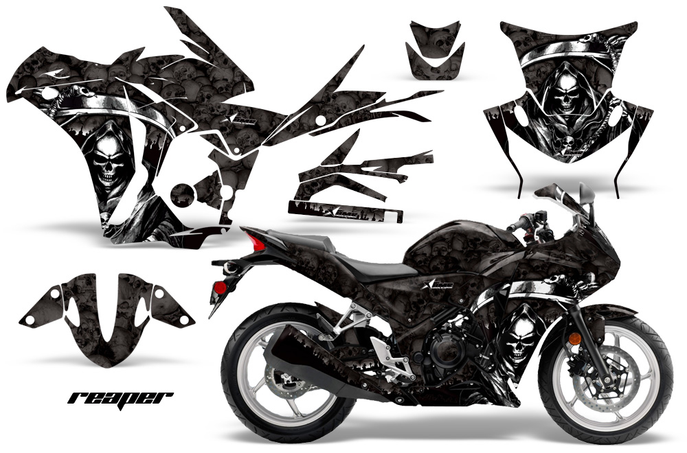 Honda CBR250r Graphic Kit. 2010-2013 Street Bike Graphic