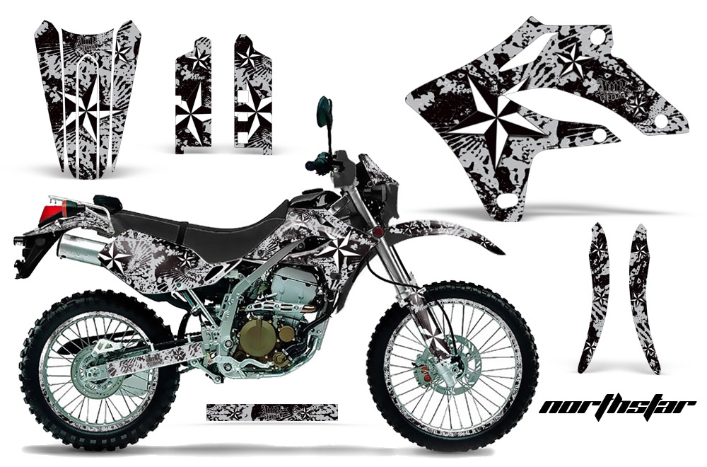 KLX250 2004-2007 Graphics kit. Kawasaki Motocross Graphic