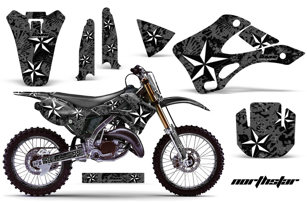 1994-1998 KX125-KX250 Graphics kit. Kawasaki Motocross
