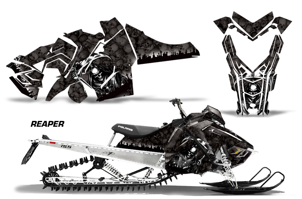 Polaris 2015+ Axys SnowMobile Sled Graphic decal sticker Kit