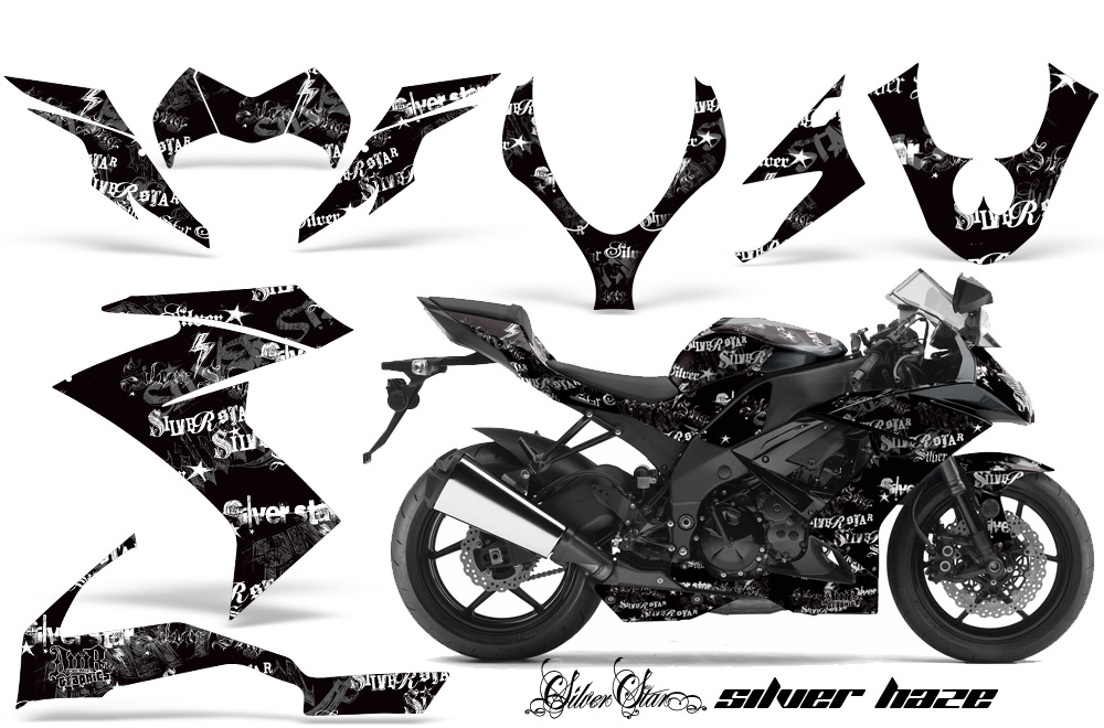 2008,2009,2010 Kawasaki ZX10 Ninja Street Bike Graphic