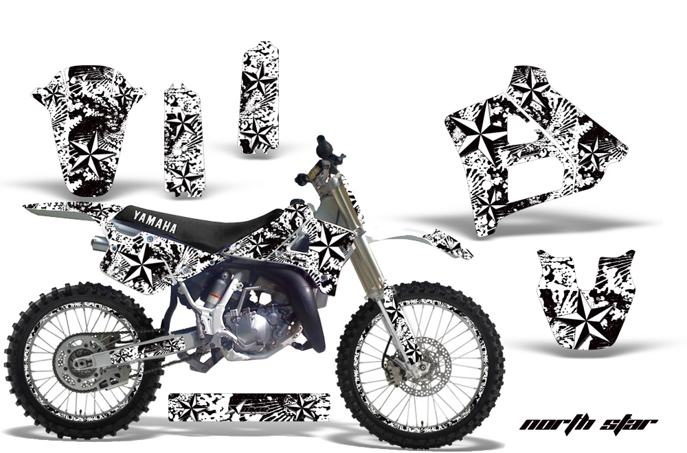 Yamaha YZ250 2 Stroke Motocross Graphic Kit (1991-1992)
