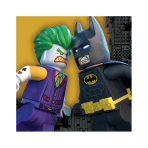 LEGO Batman Movie Luncheon Napkins 33cm - 6 PKG/16