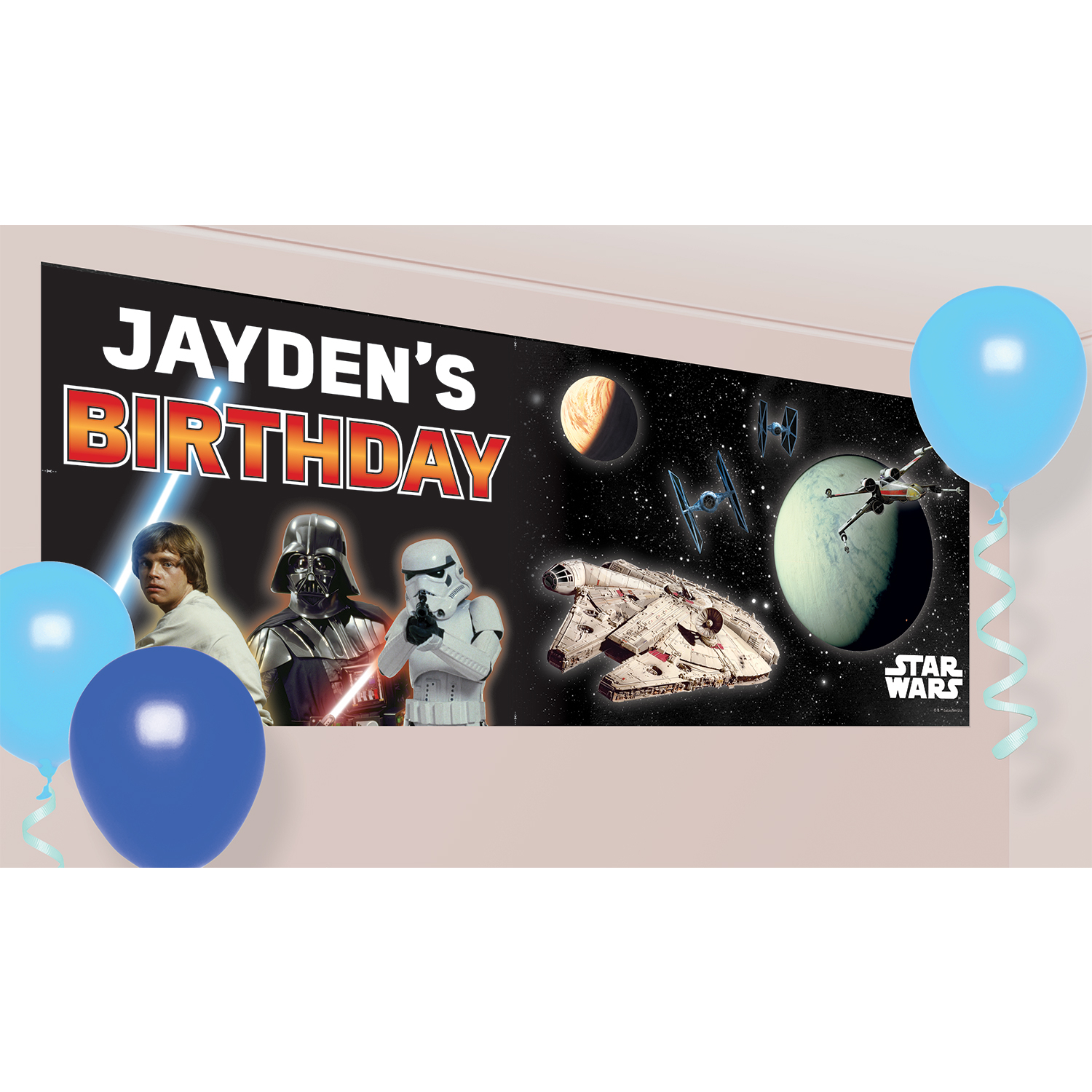 star wars personalised banners