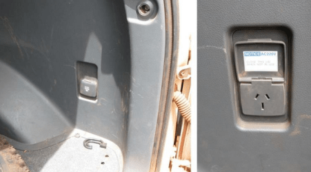Some 220 volt three pin outlets in mine vehicles not safe