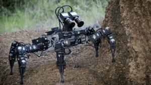 hexapod robot CSIRO mines rescue
