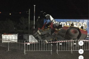 franna crane rollover incident