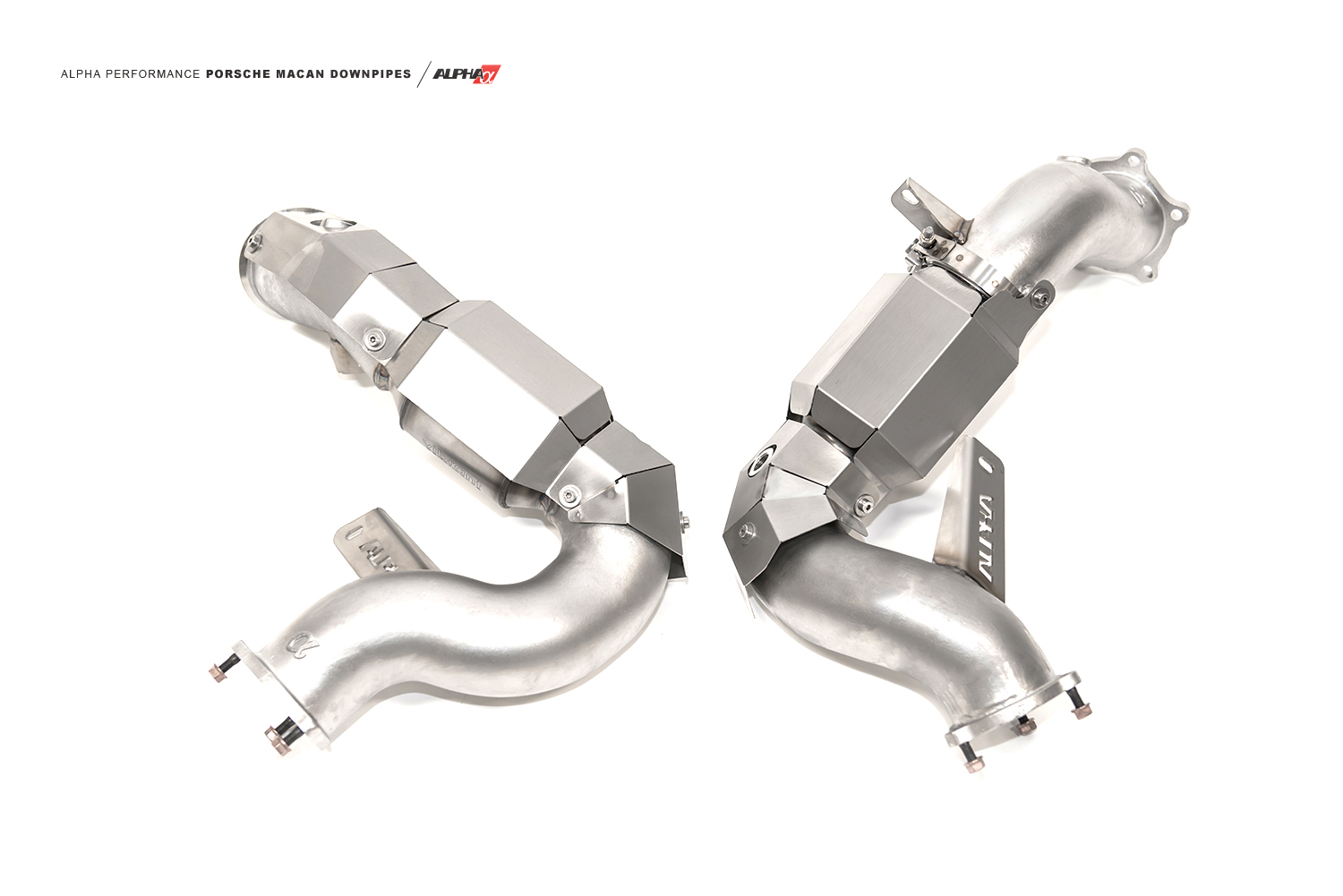 hight resolution of alpha porsche macan downpipes mods upgrade kit