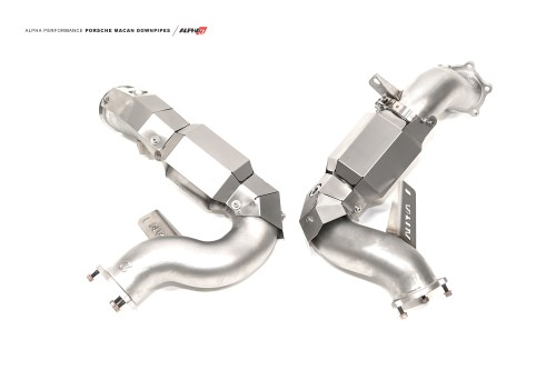small resolution of alpha porsche macan downpipes mods upgrade kit
