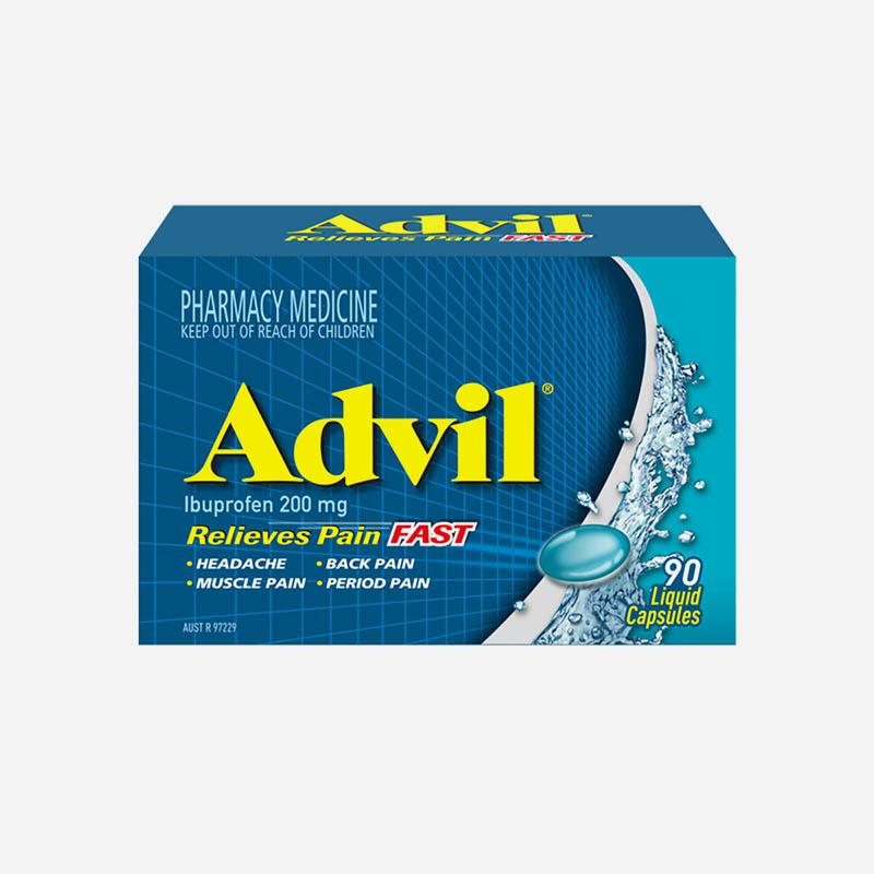Advil Liquid Capsules 200mg 90