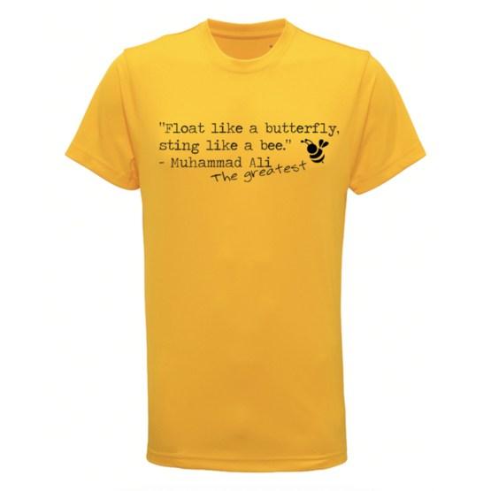 boks t-shirt float like a butterfly