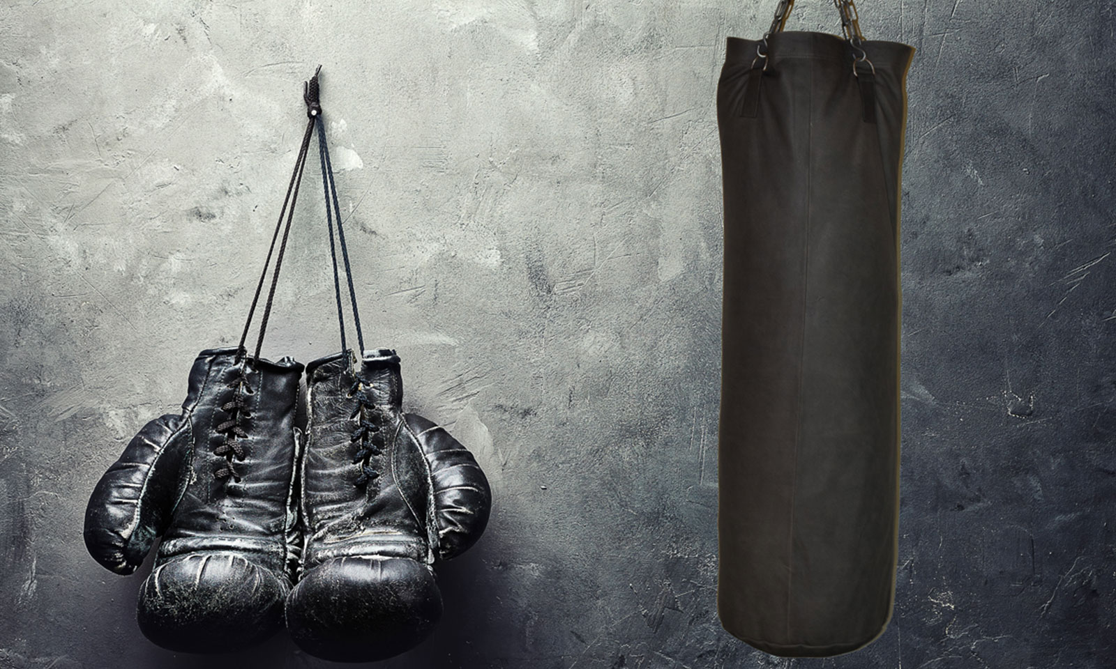Bokszak en bokshandschoenen