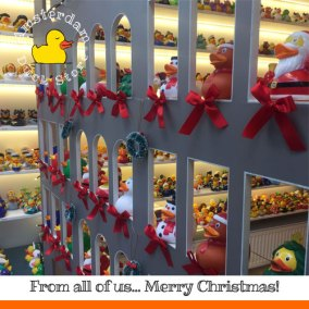 Preparing for a super X-mas. Hope you have fun too! Christmas @ Amsterdam Duck Store