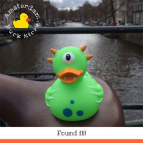 Sometimes the strangest creatures crawl out of the canals of Amsterdam. Huuu....