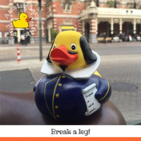 Curtains up for Shakespeare Rubber Duck @ Stadsschouwburg (City Theatre) Amsterdam