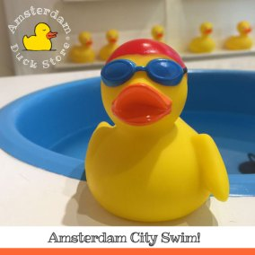 Getting ready for the big splash @ Amsterdam City Swim for ALS