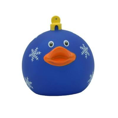 Christmas ball blue rubber duck