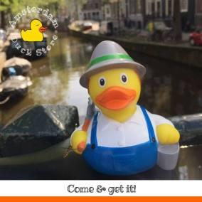 Farmer rubber duck Raamgracht Amsterdam Duck Store