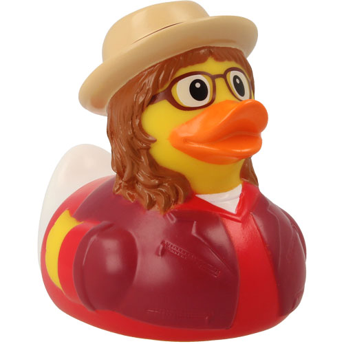 Hipster woman rubber duck