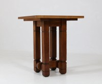 Oak Art Deco Coffee Table by A.R. Wittop Koning for J.H