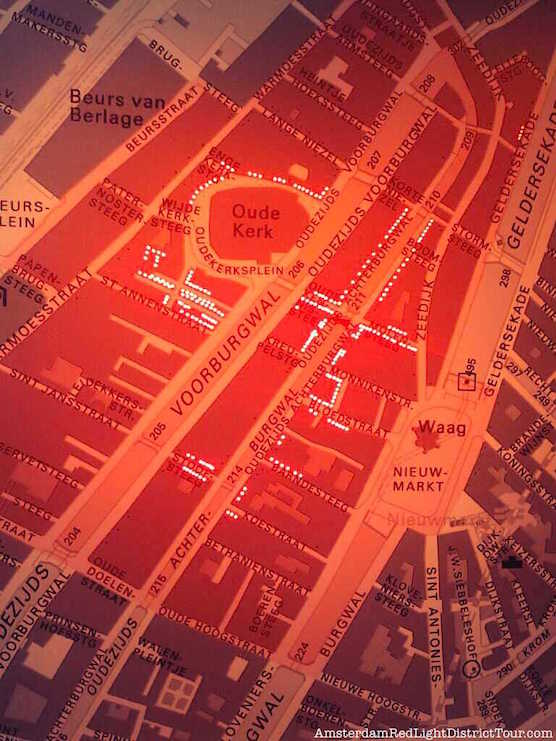 Amsterdam Red Light District Map - Where are the Red Light District areas?