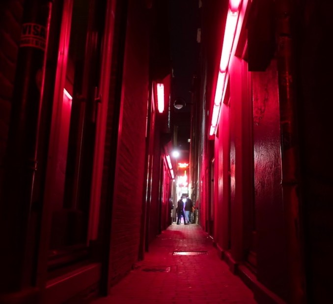 Male prostitute Amsterdam Red Light District alleys