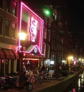 Amsterdam Red Light District elephant