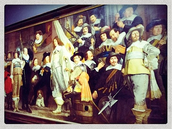 Painting in Amsterdam's Rijksmuseum.