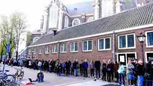 Amsterdam anne frank house queue