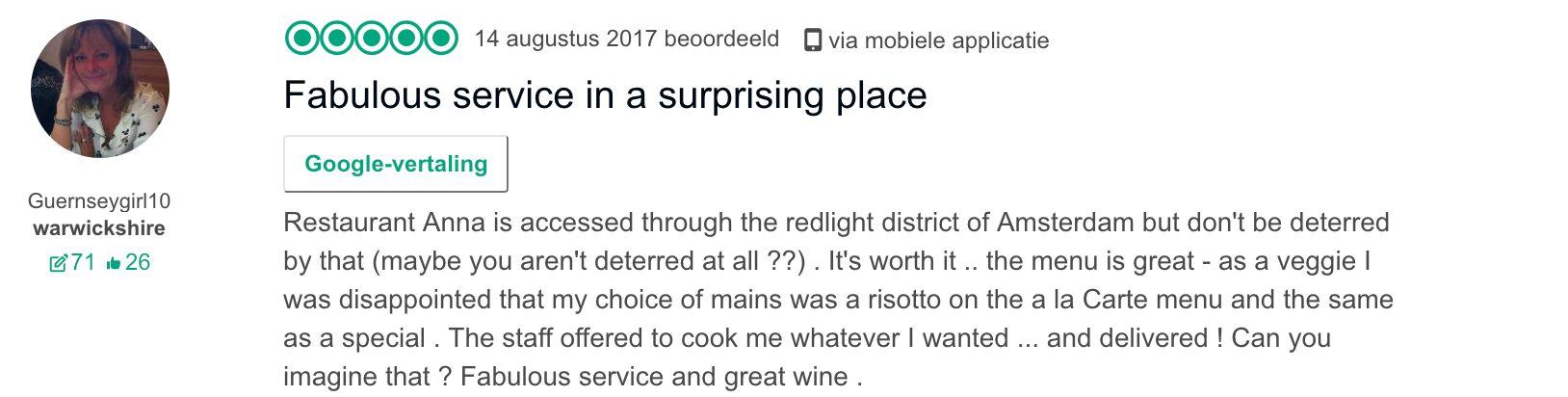 Restaurant Anna Tripadvisor Reviews