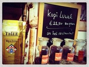 Great variety of teas in Hofje van Wijs in Amsterdam's Red Light District