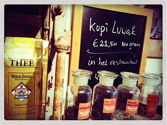 Great variety of teas in Hofje van Wijs in Amsterdam's Red Light District