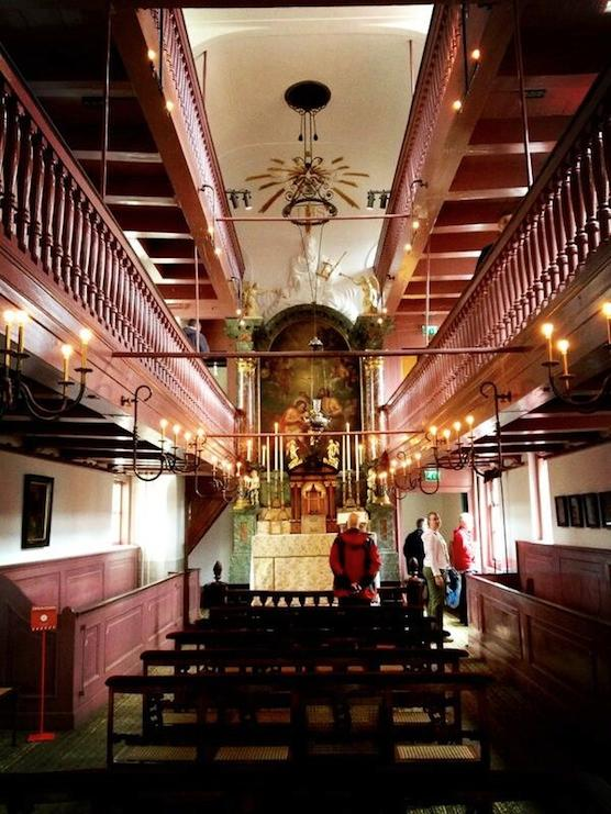 Hidden church in Amsterdam's Red Light District