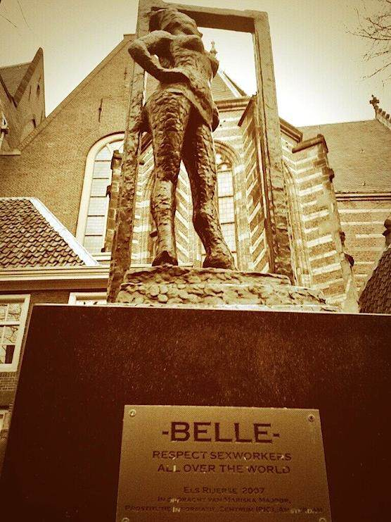 Belle, a statue which stands in the heart of the Red Light District in Amsterdam.