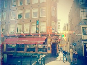 Cafe Old Sailor in the Red Light District in Amsterdam