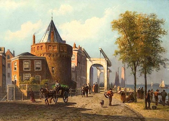 This is how VOC Cafe De Schreierstoren used to look like in 1870.