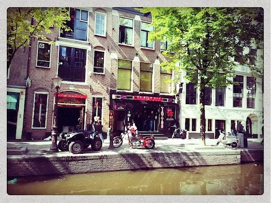 The Casa Rosso in Amsterdam's Red Light District.
