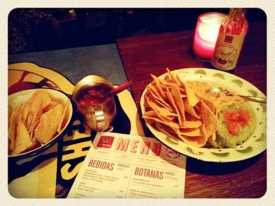 Mexican restaurant Los Pilones in Amsterdam.