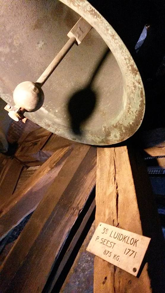 The bells inside Amsterdam's Old Church Tower