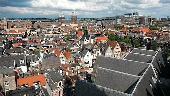 Amsterdam from above: The view from the Old Church.