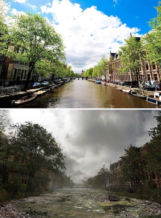 This is how Amsterdam could look like after an apocalypse
