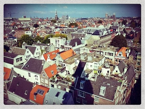 Amsterdam from above: A view from The Zuiderkerk church in Holland's capital.