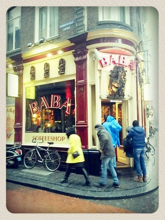 Coffeeshop in Amsterdam's Red Light District